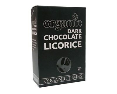 Organic Times Dark Chocolate & Licorice 150g