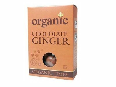 Organic Times Milk Chocolate & Ginger 150g