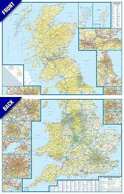 Great Britain Reversible Road Map by A-Z Maps (GLOSS ENCAPSULATED,  WALL MAP)