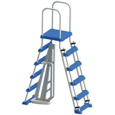Swimline 87952LSL A-Frame Ladder with Safety Barrier