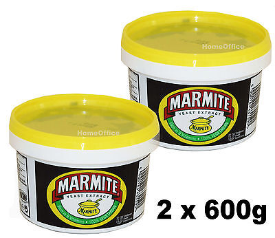 MARMITE 2 x 600G NEW SEALED LARGE CATERING SIZE