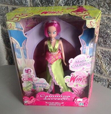 2006#Winx Club Rare Tecna Doll Walking Official Rainbow Nrfb Sealed