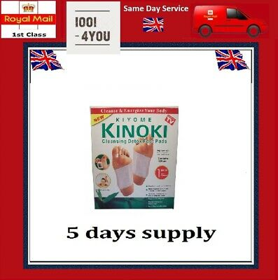 Kinoki 10 PATCHES DETOX FOOT PADS Remove Body Toxins WEIGHT LOSS stress relief