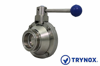 "1.5""  Sanitary Ball Valve Clamp Ends 316L Stainless Steel Trynox"