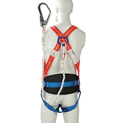 Silverline Safety Harness + Lanyard Restraint Kit Height Fall Protection