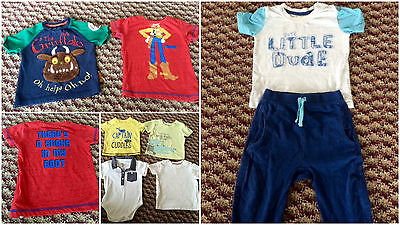 Boys Outfit & T-shirts  8 Items   Tops Trousers Gruffalo 9-12 Months  No1530