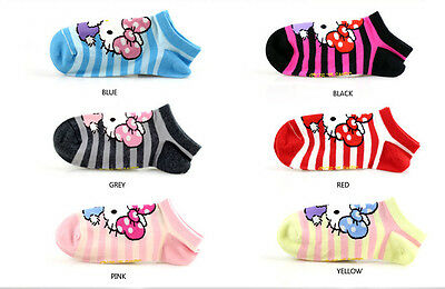 Girls Hello Kitty Cotton Trainer Liner Socks/fits age 9-11 year olds*