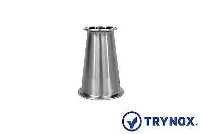 Tri Clamp Sanitary Stainless Steel 316L 3'' x 2'' Concentric Reducer Trynox