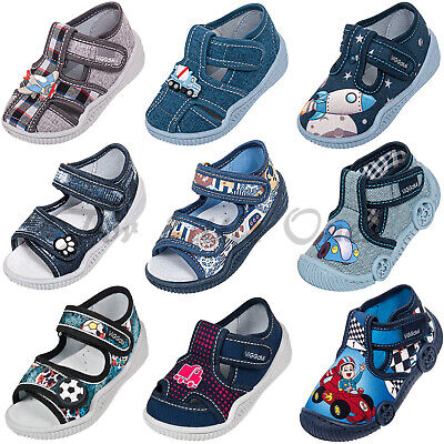 Boys canvas shoes slippers casual trainers sandals baby toddler 3 4 5 6 7 8 9UK