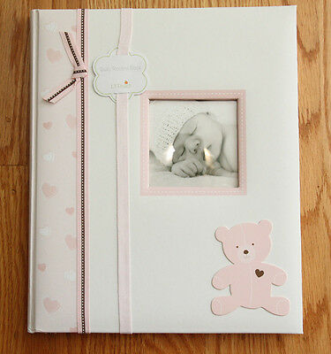 Pearhead L'il Peach Baby Girl Memory Book ~ Pink ~ Teddy Bear ~ Years 1 to 5 ~