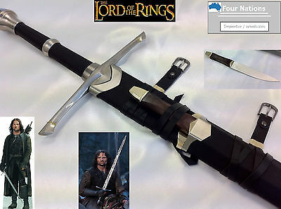 Lord of the rings Aragorn's Strider Sword + knife