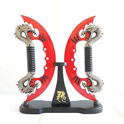 Double Dragon Fantasy Knife w/Stand Metal Blade