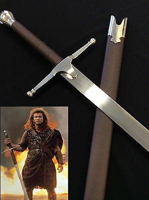 Medieval Braveheart Movie Sword w/ Scabbard and Wall plaque- Pre Order