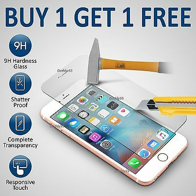 100% Genuine Tempered Glass Screen Protector Film  For Apple Iphone 6S- New