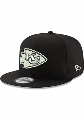 los angeles e1cb0 46e91 Kansas City Chiefs New Era 9Fifty Black White Logo Field Snapback Hat Cap  NFL