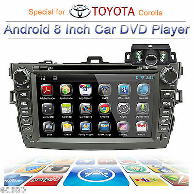 Double 2Din 8''Android 4.4 GPS Navi Stereo Car DVD Player For Toyota Corolla+CAM