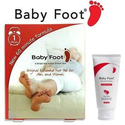 Baby Foot Easy Pack Natural Foot Exfoliation New 60 Minute Formula Foot Lotion