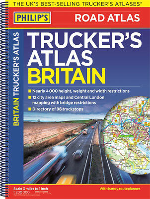 Philip's Trucker's Road Atlas of Britain (Spiral bound)