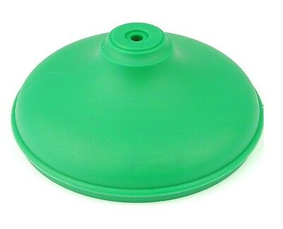 "Linic 1 x Green 4"" 100mm Plastic Round Fence Post Cap Top Finial UK Made GT0037"
