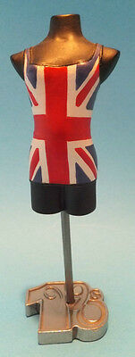 The Latest Thing 1990s Music Girl Power Union Jack Dress Mannequin Figure Bust