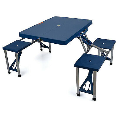 Portable Folding Picnic Table 4 Chairs Lightweight Camping Dining Set Caravan