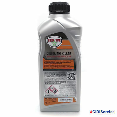 Green Star Diesel Bio Killer 1 Lt Additivo Biocida Antialghe per Gasolio 312790