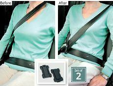 Car Seat Belt Supports Adjusters Clips Strap Safety Comfort Shoulder Neck Aid