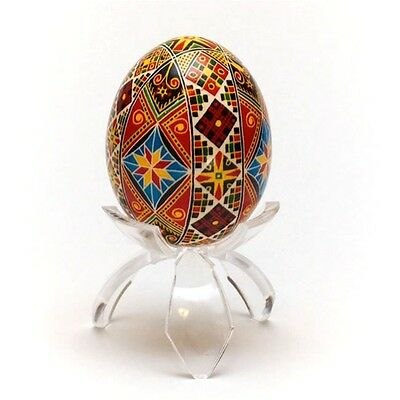 "1.5"" Tulip Tripod Clear Plastic Easter Egg Stand Display Holder"