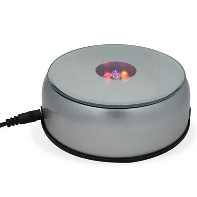 "4"" Automated Turntable Stand AC/Battery Operated Rotating LED Display"