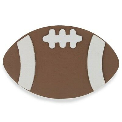 """4"""" Wooden Hand Painted Football Cutout"""