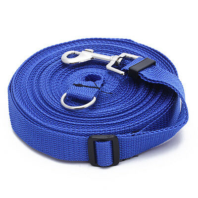 Blue 50ft/15m Long Dog Pet Puppy Training Obedience Lead Leash