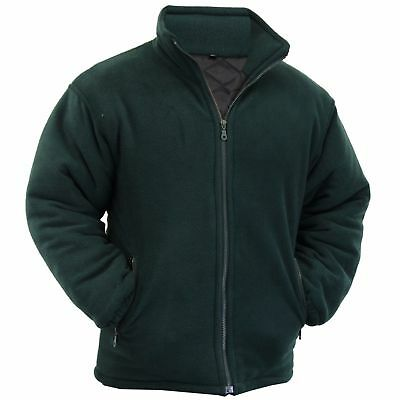 Men's Padded Thick Fleece Warm Winter Jacket Full Front Zip Closure Size S-5XL
