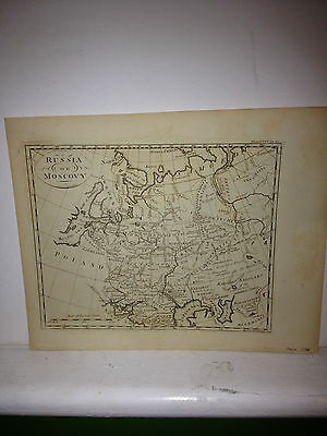1798 map of Russia or Moscovy