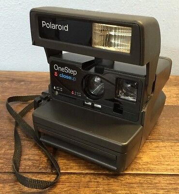 Polaroid One Step 600 Close Up Instant Film Camera Tested See Demo Made UK