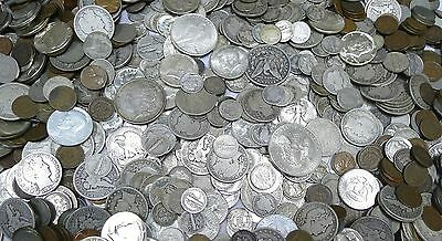 All Silver Estate Coin Lot!  Barbers, Kennedy, World War Ii !  7 Coins!!