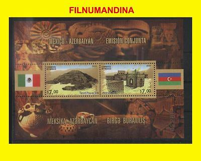 Mexico 2010 Joint Issue Azerbaiyan Archeology Teotihuacan S/ss Mnh