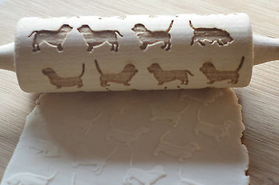 laser engraved rolling pins with dog breeds
