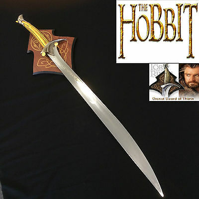 LOTR & The Hobbit Orcrist Sword of Thorin Oakenshield with Wooden Plaque