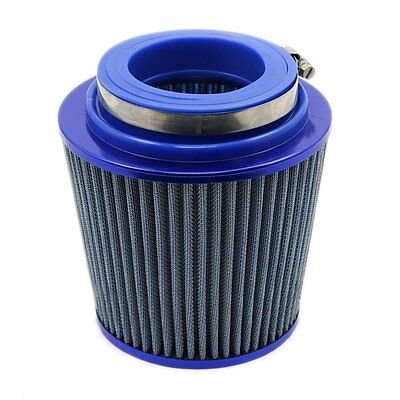 """3"""" Blue Car SUV Auto Cone Cold Air Intake Induction Breather Filter Cleaner"""