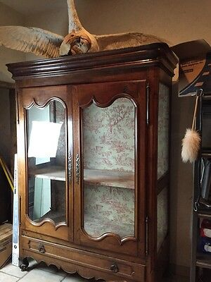1840 Louis Philippe French Armoire Cherry Glass Front