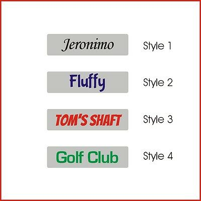 5 Personalized Golf Shaft Stickers vinyl band with your name