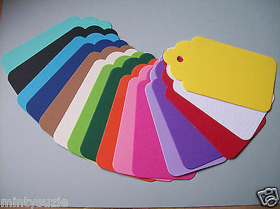DIE CUT SCALLOP Tag sizzix large medium small 8-4cm assorted