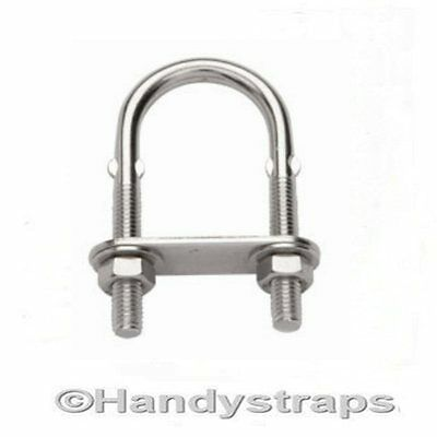 4mm x 80mm x 35mm U BOLT & PLATE  Stainless Steel Marine