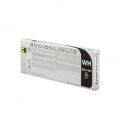 (1) Roland Eco Sol Max2  White Ink ESL4-WH 220cc New & Sealed
