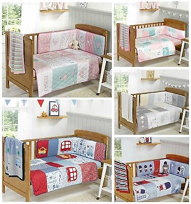 Bizzi Growin Beautiful 3 Piece Cot or Cot Bed Bedding Bale Cot Bumper, Coverlet