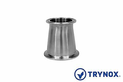 Tri Clamp Sanitary Stainless Steel 316L 2 1/2'' x 2'' Concentric Reducer Trynox