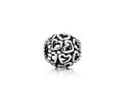 Authentic Pandora silver 925 Ale #790964 Open Your heart slide Bead charm NWOT