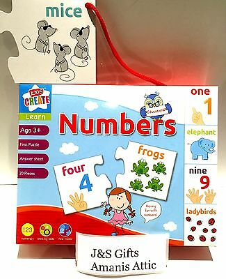 Children's learn fun With Numbers kids Numbers Jigsaw Puzzle Age 3yrs+