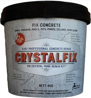 Crystalfix Mr Crystal Concrete Repair Kit Walls Water Tank Pool Trough Pond