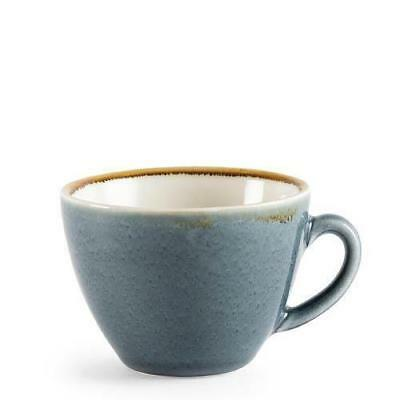 6x Artisan Coffee Cup, Ocean Blue, 230mL, Olympia Kiln, Rustic Look Crockery